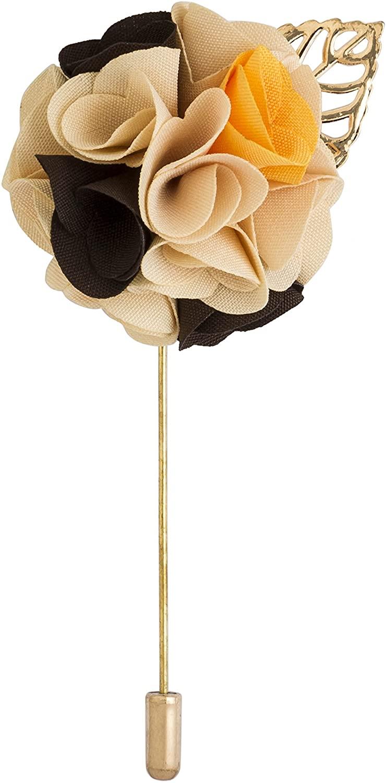 Knighthood Cream Black and Yellow Lapel Pin/Brooch Multi