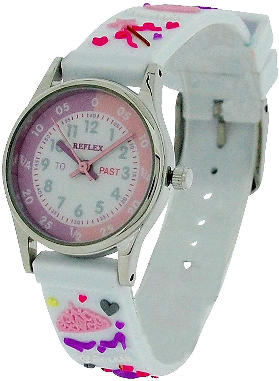 Reflex Time Teacher Kids Girls White 3D Silicone Princess Strap Watch REFK0010