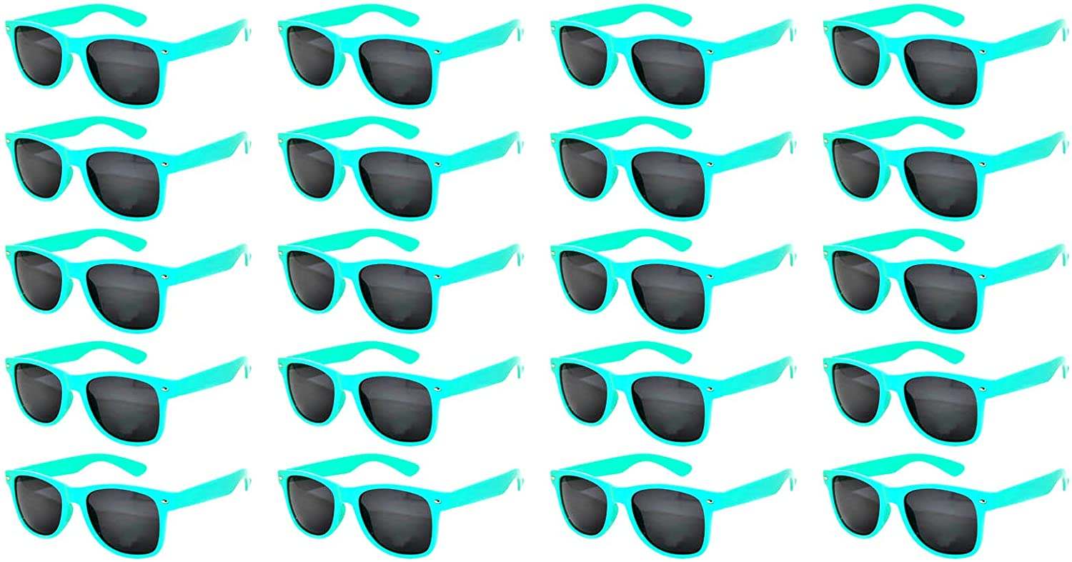 Case of 20 Pairs Kids Polarized Lens Sunglasses Anti Glare Colored Matte Frame