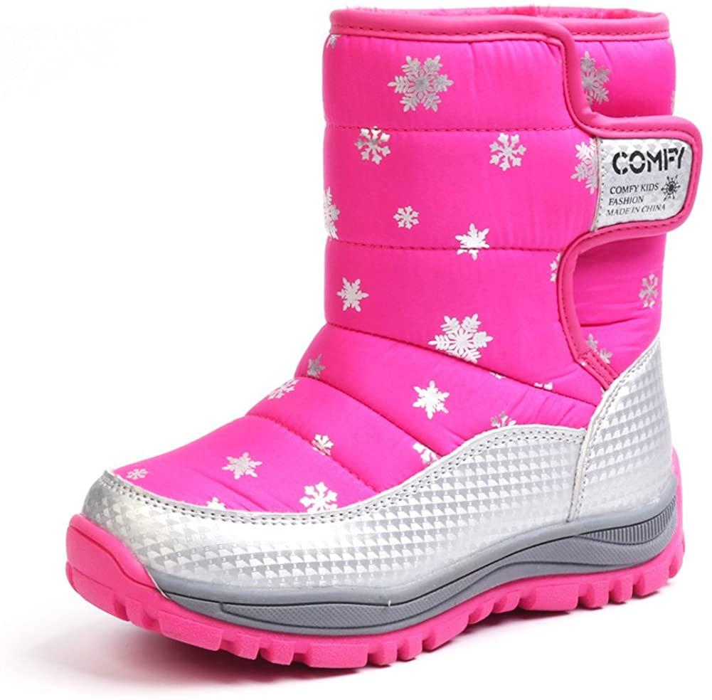 Chiximaxu Kid Waterproof Snow Boots Outdoor Winter Shoes