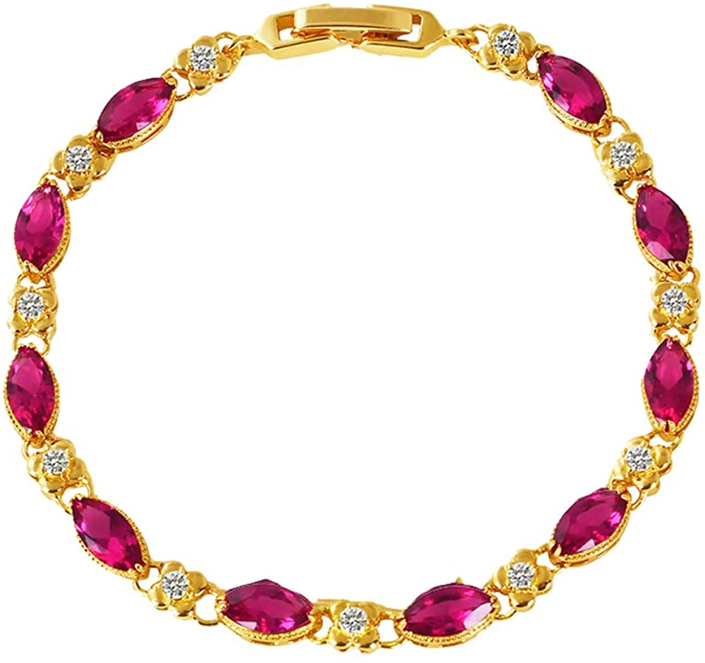 Bracelet 24K Gold Plated Simple Fashion for Women and Girl