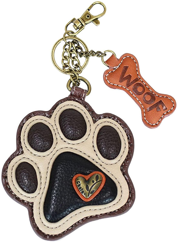 Chala Paw Print Key Fob Coin Purse, Dog Lover Gift Dog Mom