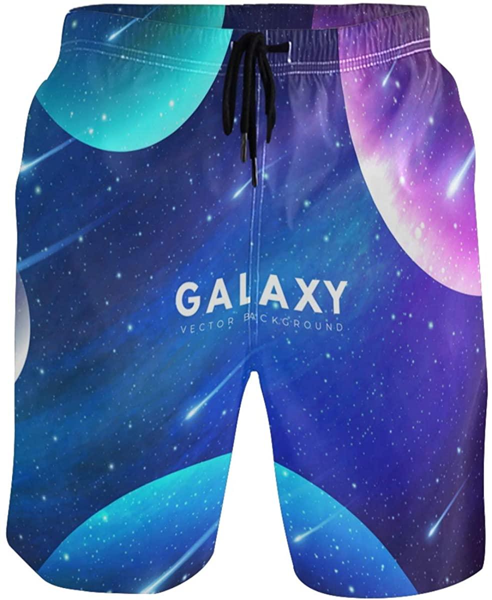 Men's Swim Trunks - Starry Night Galaxy Beach Short Men Quick Dry Bathing Suit Shorts