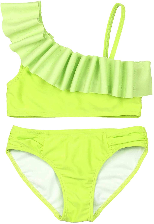 Kate Mack Girls' Make a Splash Bikini with Gathering, Sizes 7-12