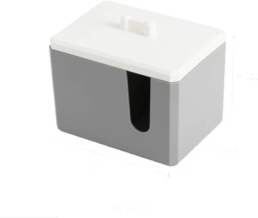 Cosmetic Storage Box, Acrylic Bathroom Desktop Beauty Storage Organiser Nordic Office Storage Box White