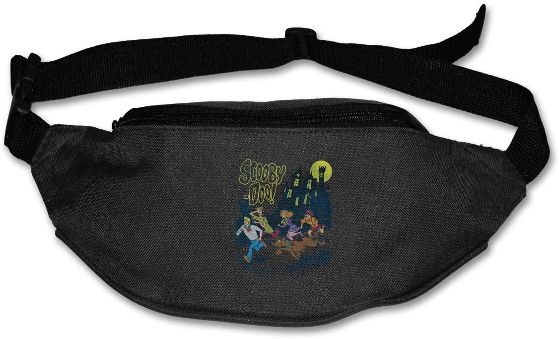 Sunlenvai Scooby Doo Pack Runners Belt Fanny Pack Running Belt Waist Black