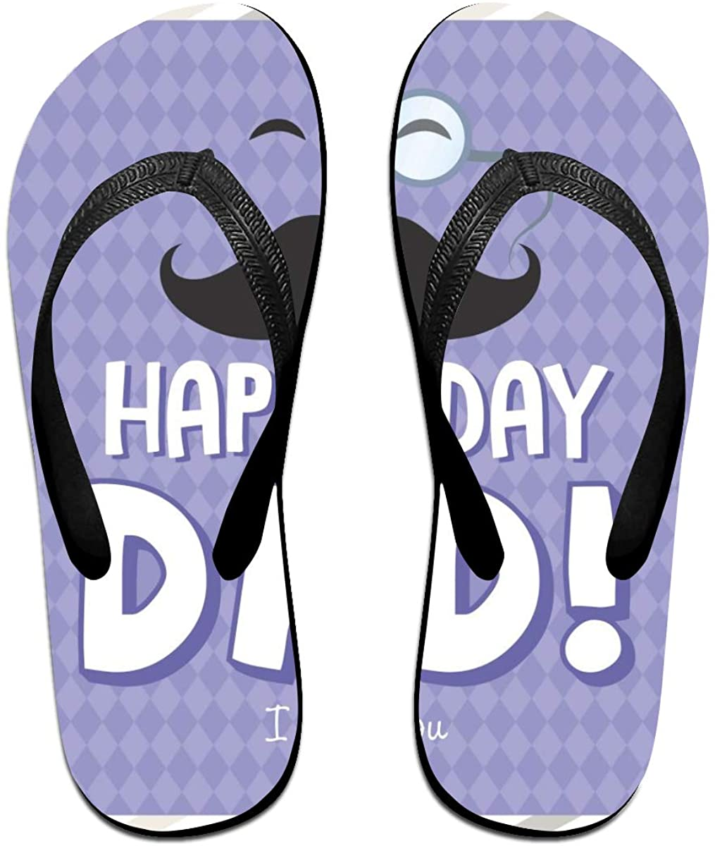 SLHFPX Mens Flip Flop Slippers Father's Day Rubber Cozy Flip Flops Outdoor Beach Sandals