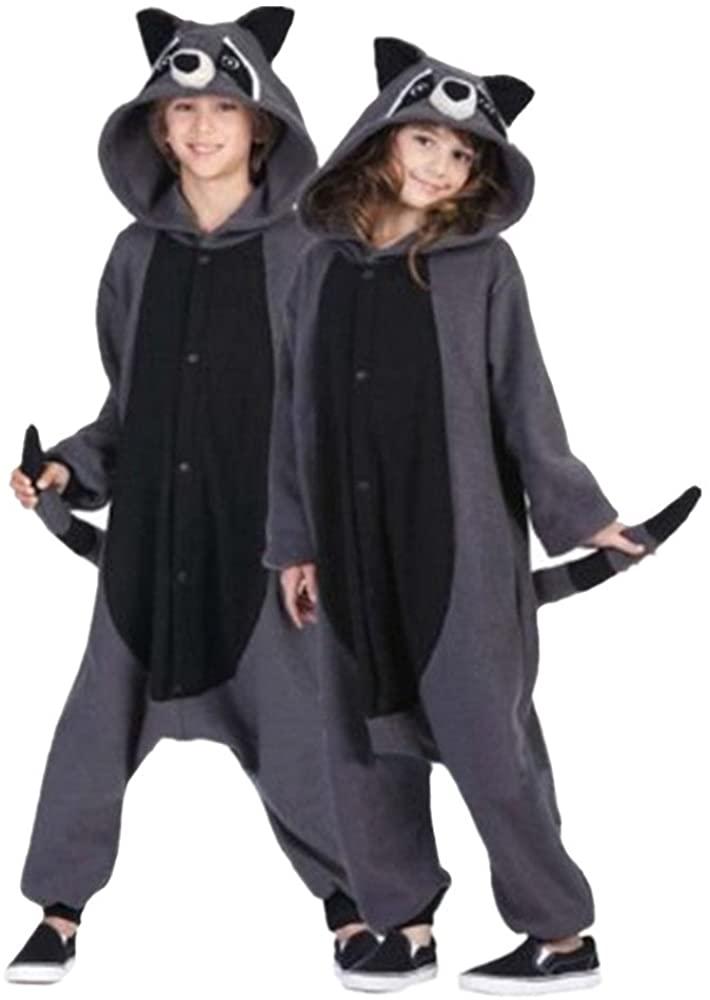 Lifeye Unisex Gray Raccoon Pajamas Adult Animal Cosplay Costume