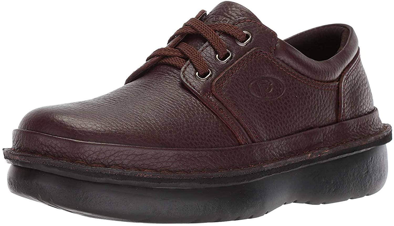 Propét Men's Villager Oxford Walking Shoe, Black Grain, 17 2X-Wide