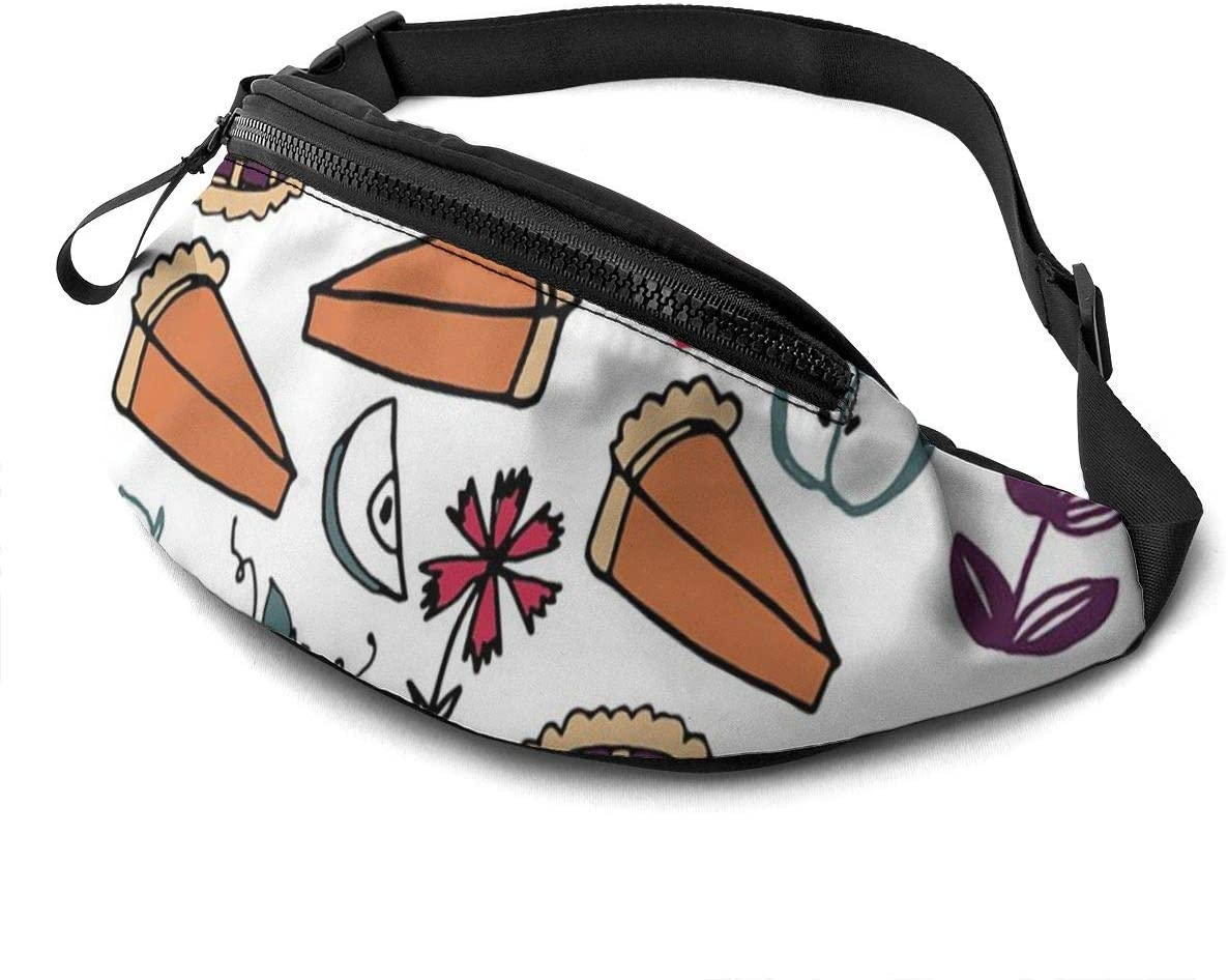 New Baking Food Pies Kitchen Pumpkin Fanny Pack For Men Women Waist Pack Bag With Headphone Jack And Zipper Pockets Adjustable Straps