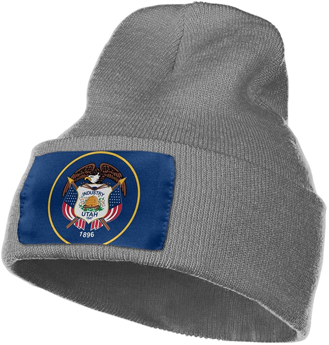 SOURCE POINT Unisex Beanie Hat Utah State Flag Knit Hat Cap Skull Cap