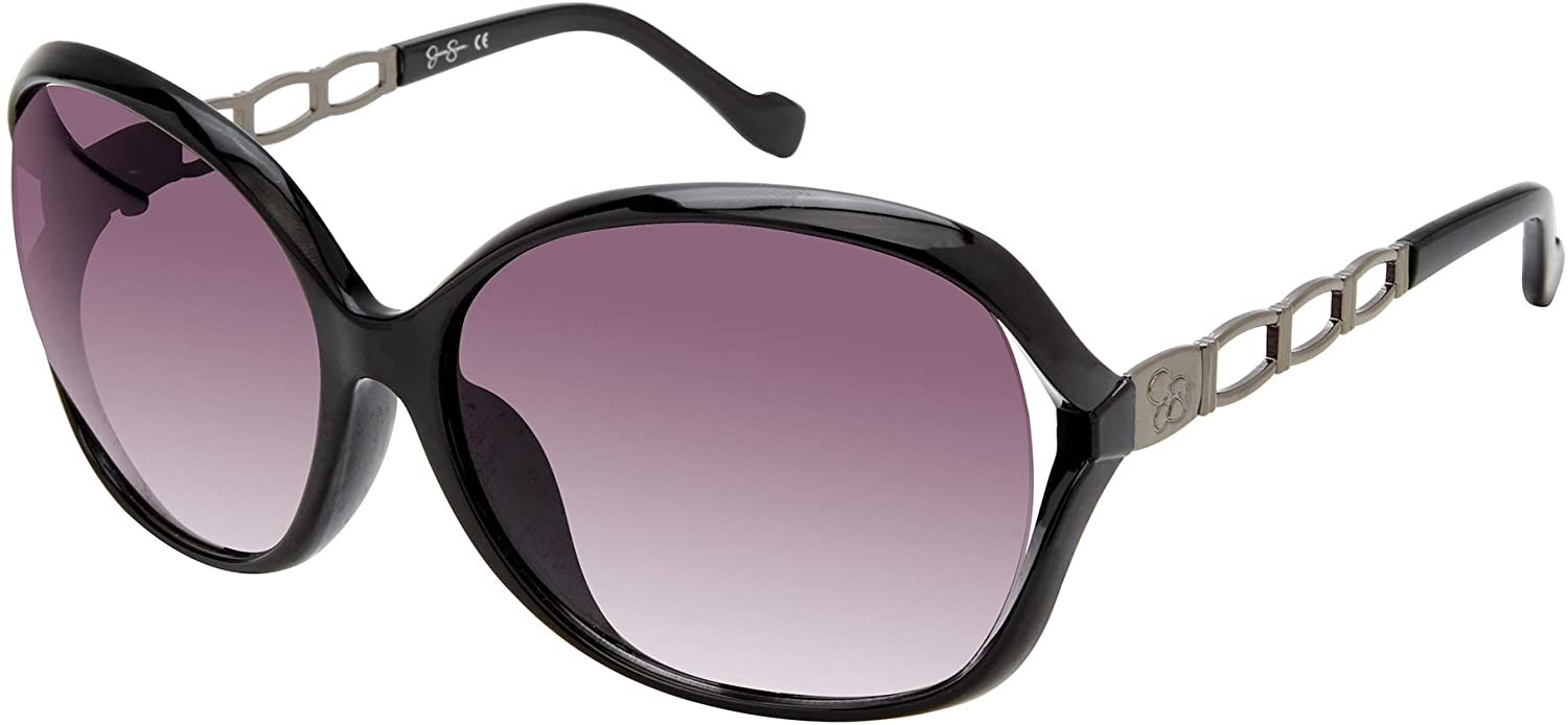 Jessica Simpson Women's J5827 Glamorous Vented Oval Sunglasses with 100% UV Protection,62 mm