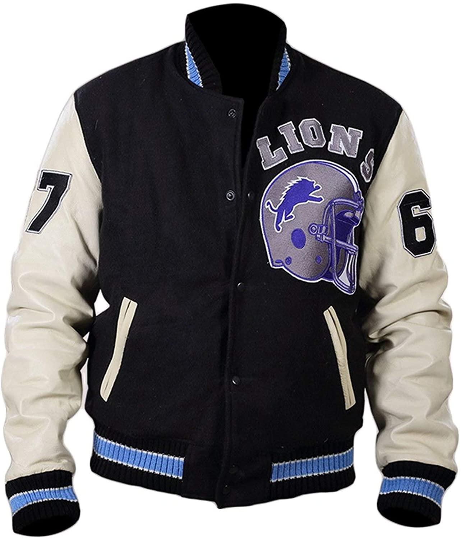 Beverly Hills Cop Eddie Murphy Axel Foley Cotton Fleece Detroit Lions Vintage Sports 90210 Letterman Jacket