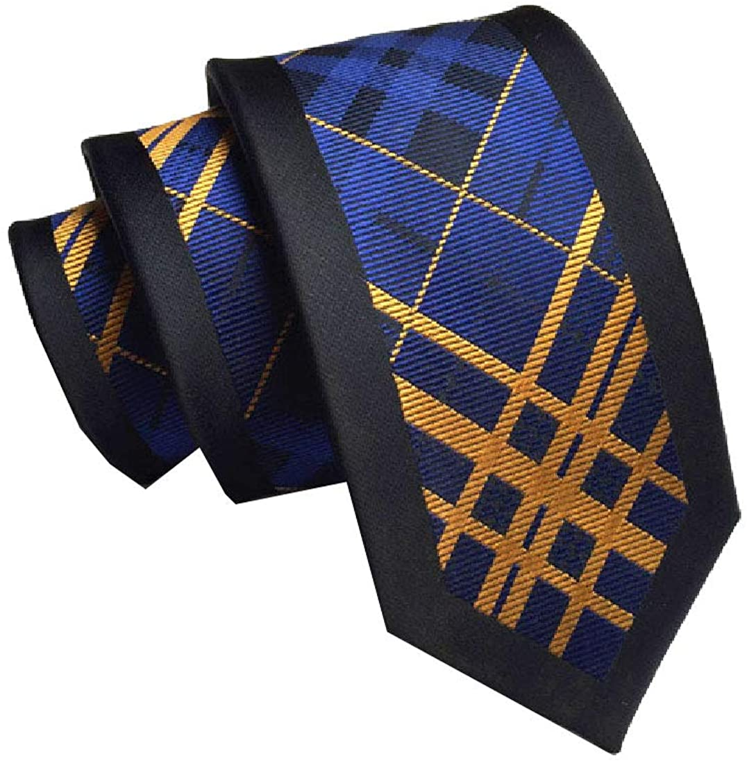 HEFASDM Men's Business Floral Print Polyester Silk Modern More Choice Necktie