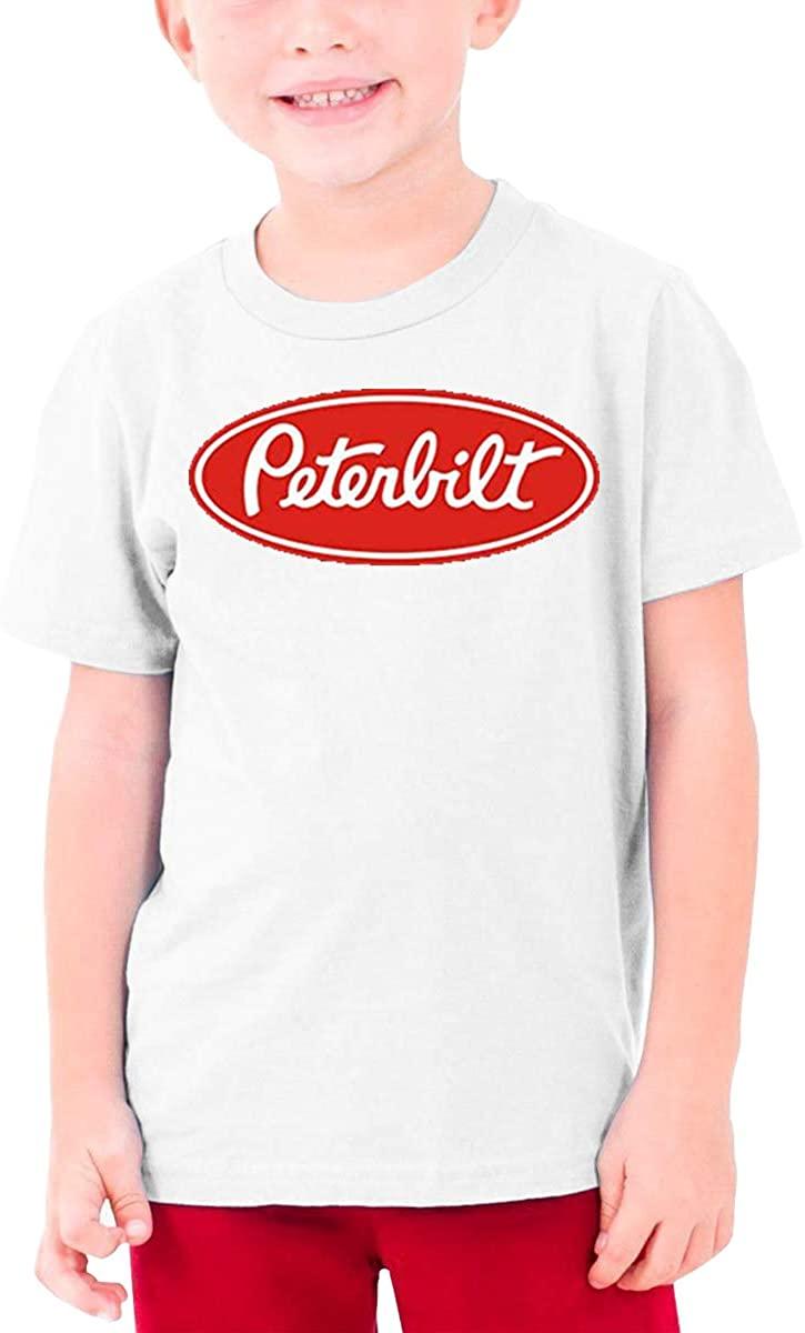 AP.Room Boys and Girls Teens Short Sleeve T-Shirt Peterbilt Generous Eye-Catching Style White