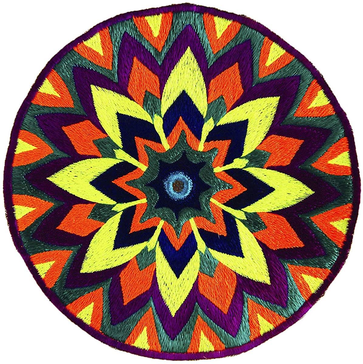 ImZauberwald Mirror Mandala patch ~7 inch handmade embroidery art