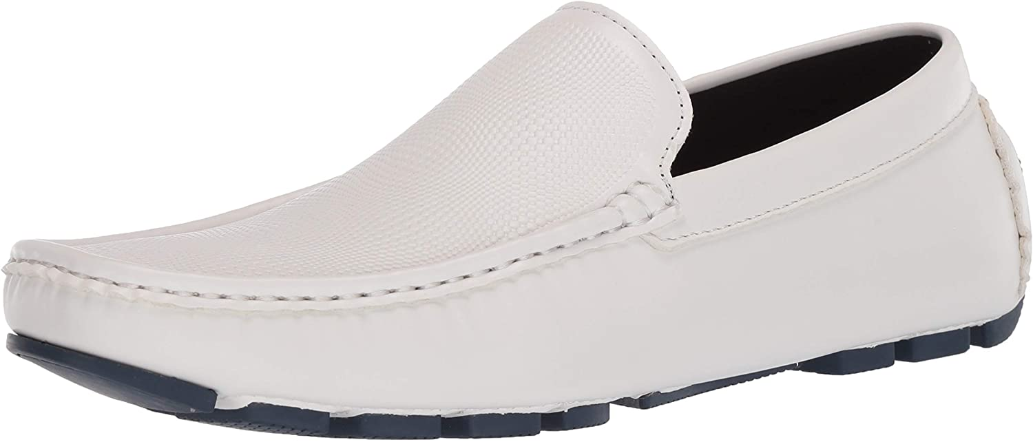 Kenneth Cole Unlisted Men's Hope Txtrd Driver Moccasin, White