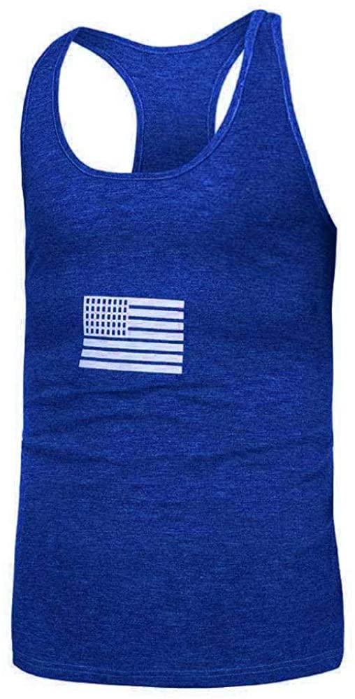 HOSD Basic Fitness Bodybuilding Training Vest Cotton Printed Vest Male
