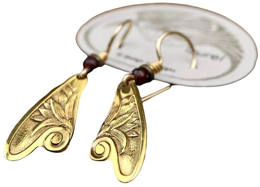 Museum of Jewelry: Vintage 1970s Laurel Inc. Fairy Wing Gold-Plate Earrings - Designed by Laurel Burch