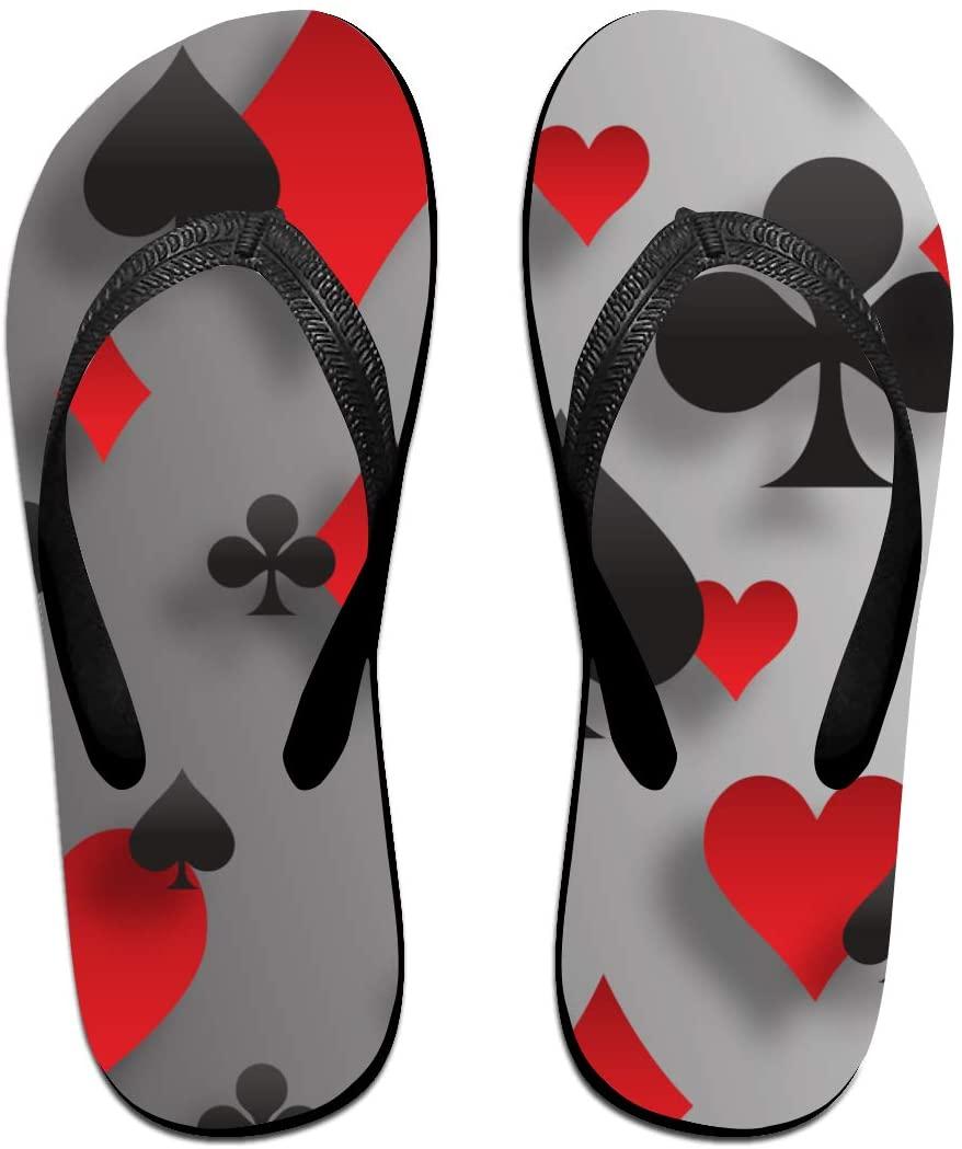 seaEagle Poker Playing Cards Slipper Flip Flop Shower Sandals