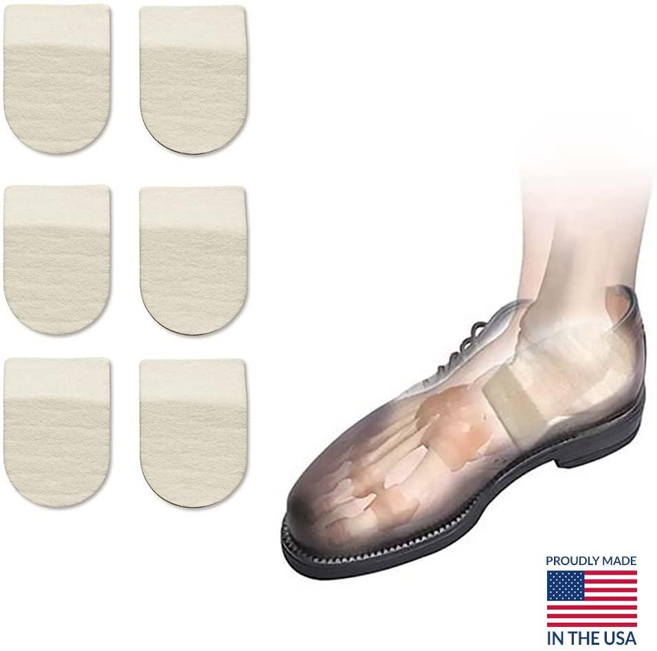 Hapad Heel Pads, Achilles Inserts, Heel Cushion Pads - 2-1/2