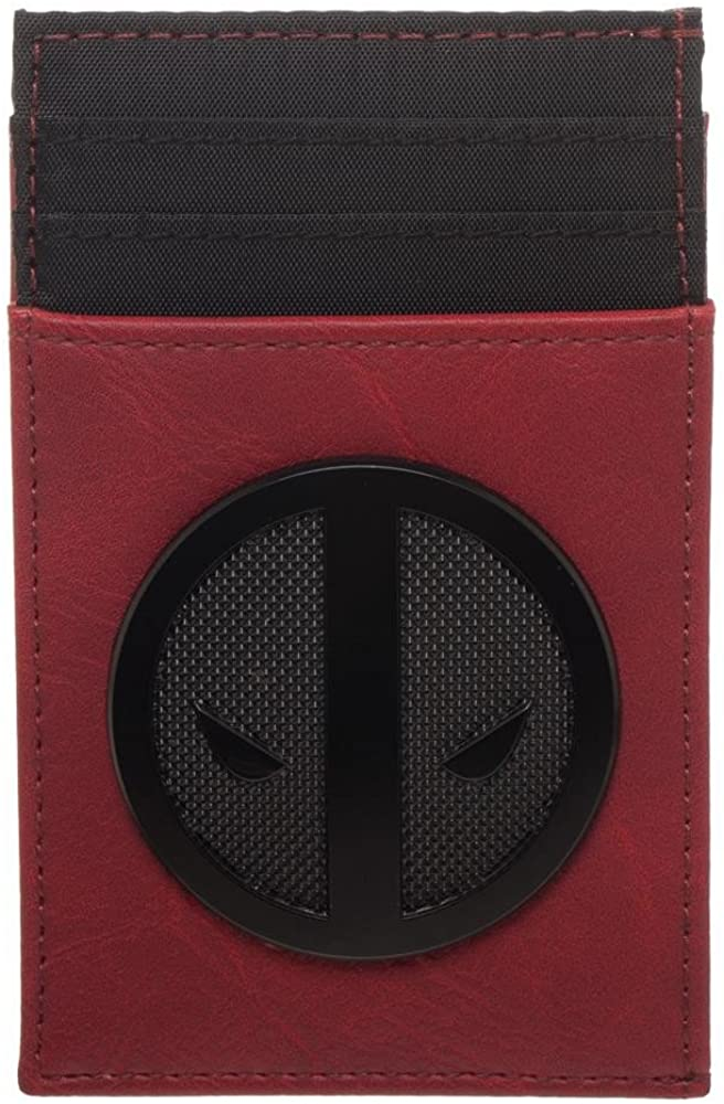 Deadpool Credit Card Holder Wallet, Red, One Size