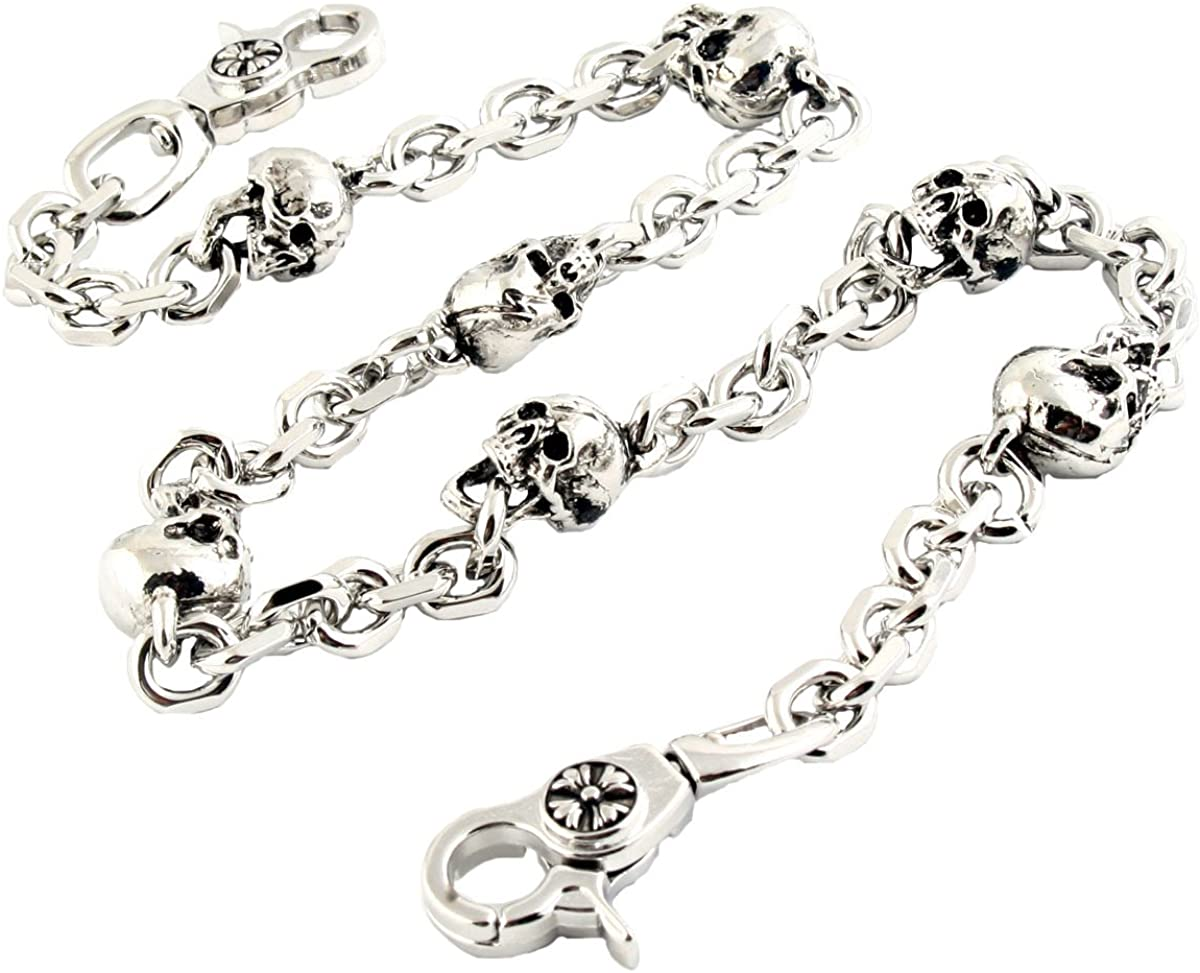 DoubleK Multi Skull Connect Key Jean Wallet Chain (26.5