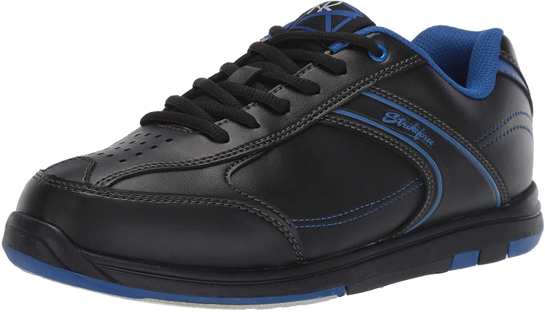 KR Strikeforce M-033-075 Flyer Bowling Shoes, Black/Mag Blue, Size 7.5