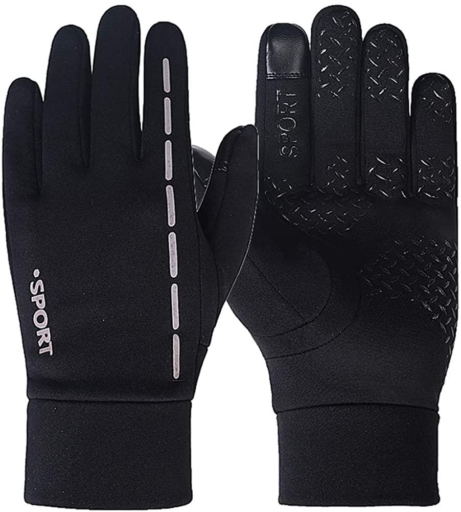 Winter Warm Men's Gloves Touch Screen Skidproof Running Windproof Waterproof Biking and Sports Gloves Full Finger