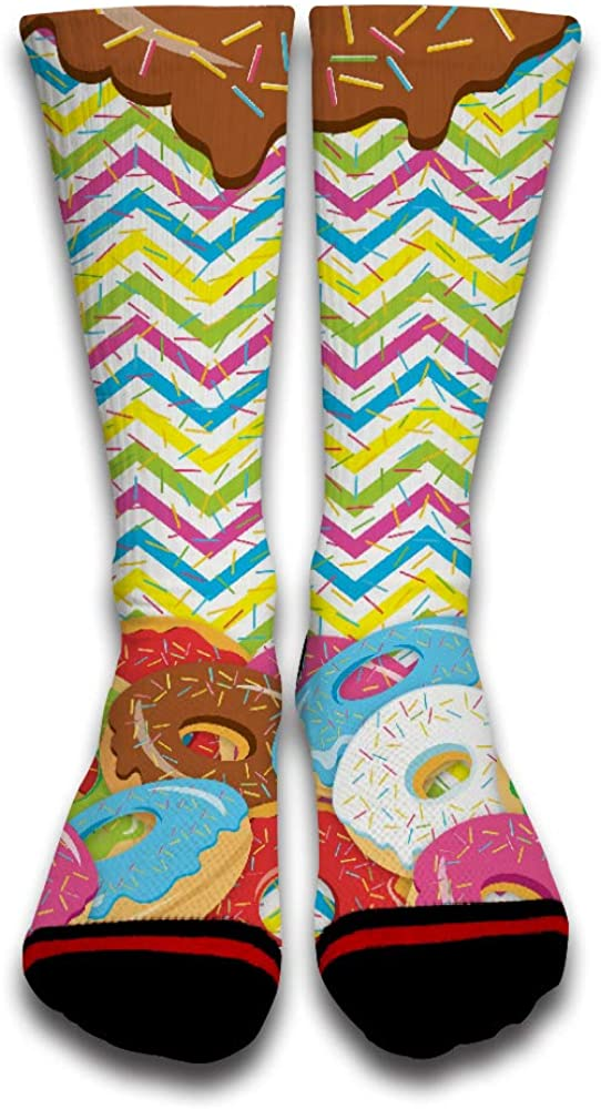 Candy Donuts Popular Fashion Customized Creative Sport 3D Printed Crew Socks