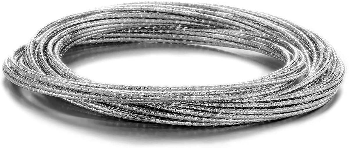 ENSOUL 25Pcs/Set Interlinked Metal Bangles Bracelets for Women/Girls