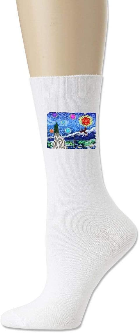 Heartsoul Scrubs Starry Night Dragons Classic Socks Cotton Socks.