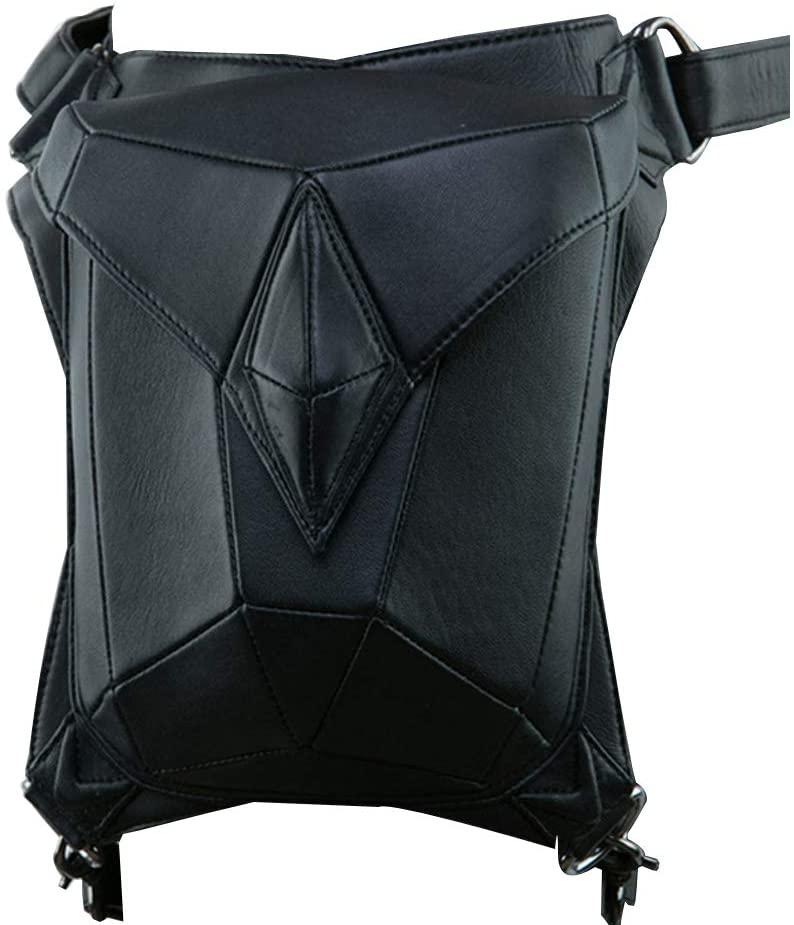 Kissybride Vintage Multifunctional Steampunk Bags Motorcycle Waist Pack Thigh Leg Bag PU Leather Shoulder Bag for Women