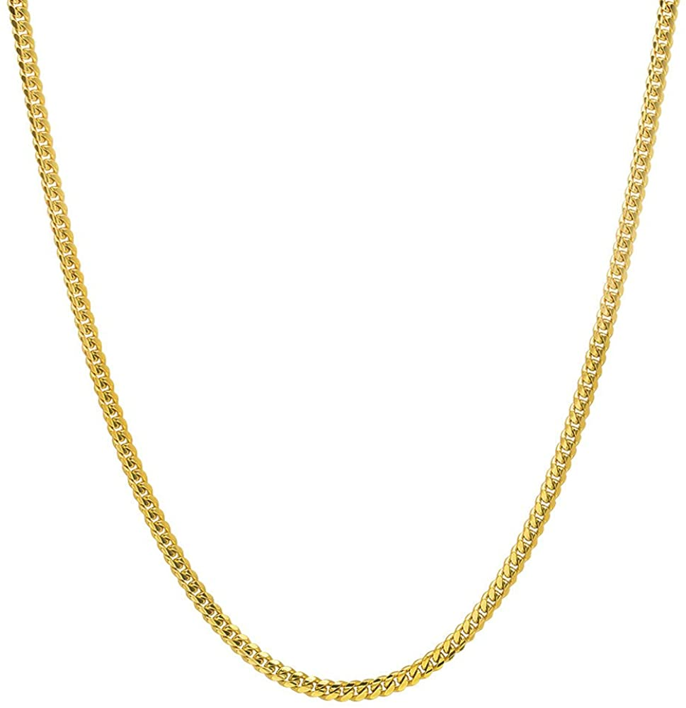 NYC Sterling Unisex Italian 2.5mm Miami Cuban Curb Link Thick ITProLux Solid 925 Necklace Chain 16 - 30