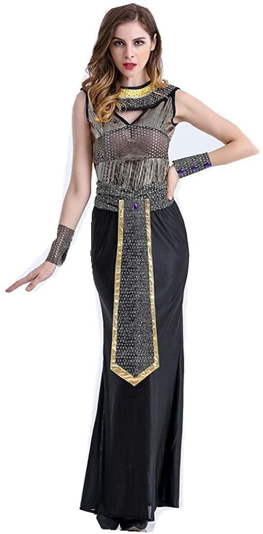 MV Women Halloween Costume Sequin DS Clothing Night Cosplay Egyptian Queen Dress