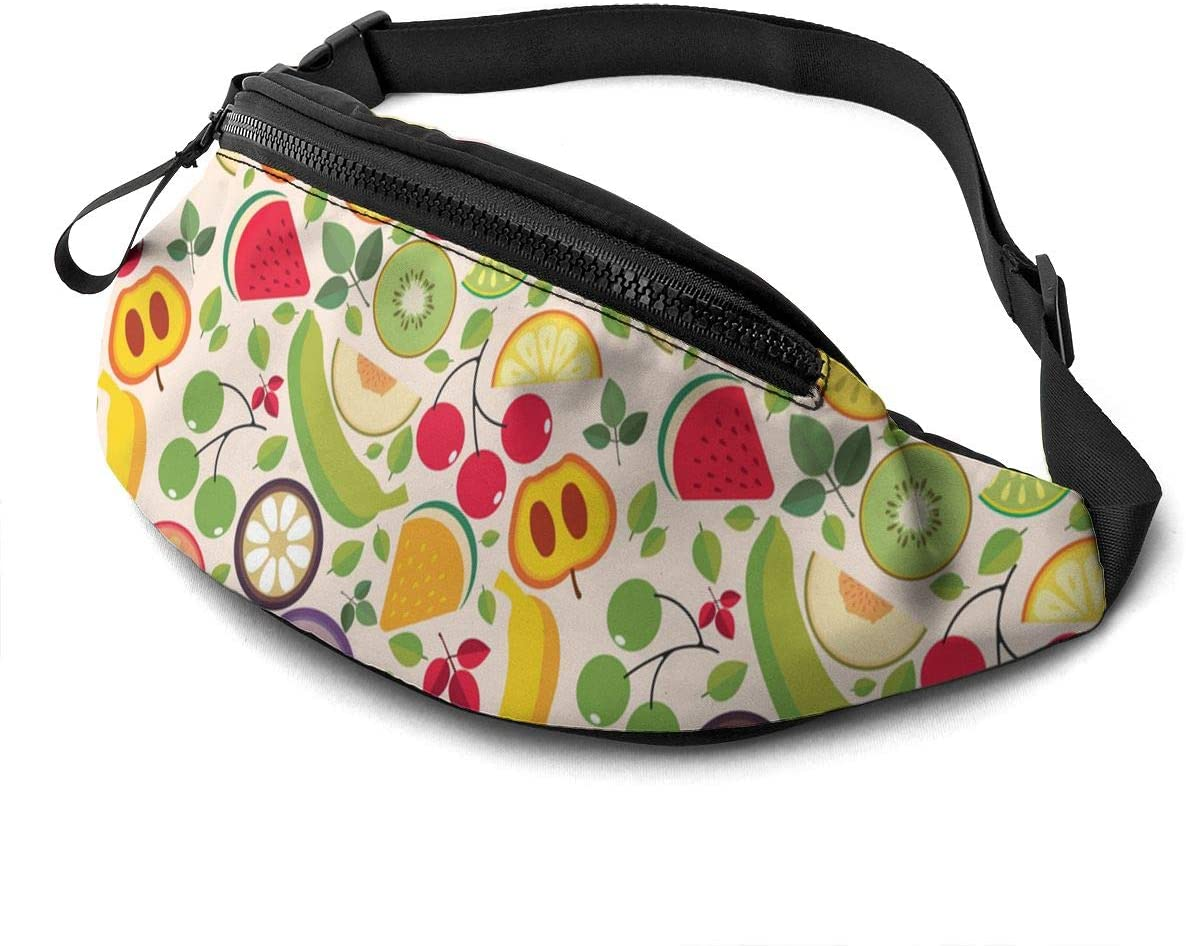 Fruit And Leaves Seamless Fanny Pack Fashion Waist Bag