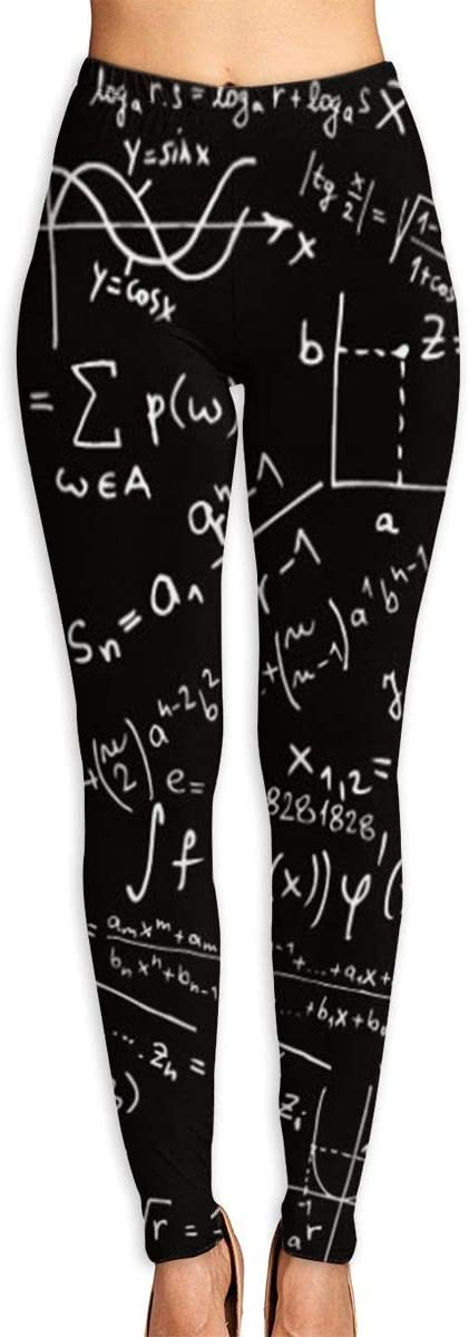 ZZATAA Womans Scientific Mathematical Formulas Elastic Waist Pencil Yoga Pants Yoga Leggings