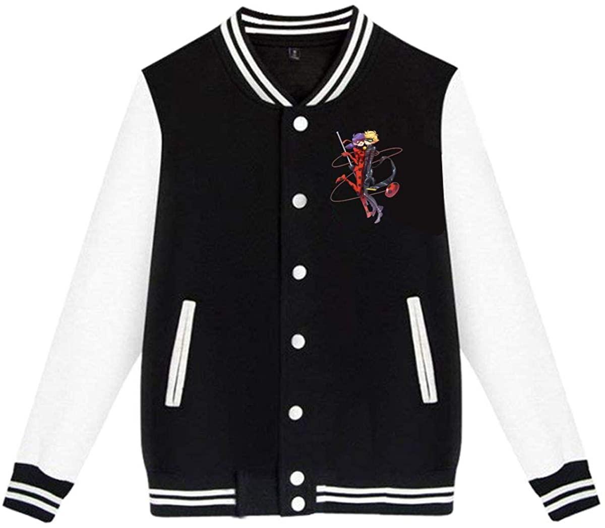 Miraculous Ladybug and Cat Noir Coat Jacket Baseball Uniform Slim Fit Cashmere Unisex