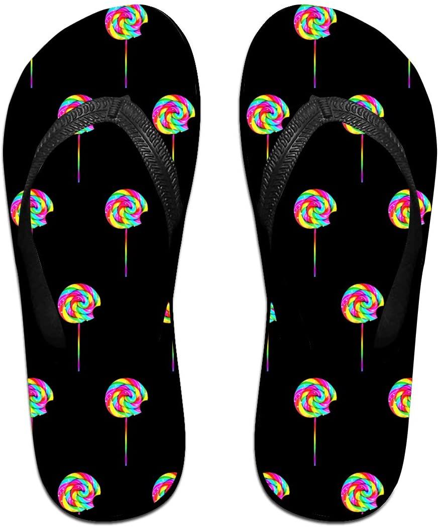 JINYOUR Rainbow Candy Unisex Flip Flops Summer Slippers Shoes Beach Sandal