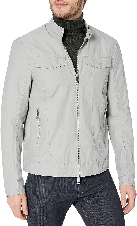 A|X Armani Exchange Mens Bi Color Nylon Zip Up Jacket