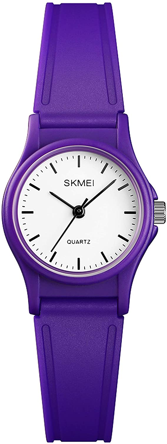 Kids Watch Simple Analog Sport 5ATM Waterproof Dress Multiple Colors Age 7-12 Watches for Boys Girls