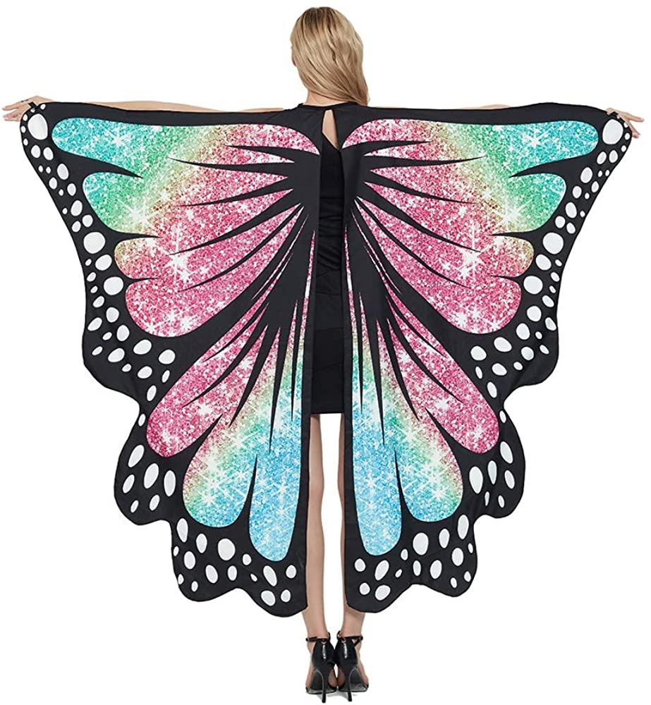 Womens Mens Halloween Butterfly Wings Costumes Party Props Cosplay Clothing Cape