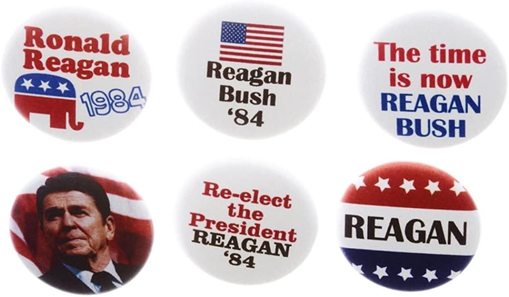 A&T Designs Set 6 Reagan Bush '84 Campaign Republican 1.25