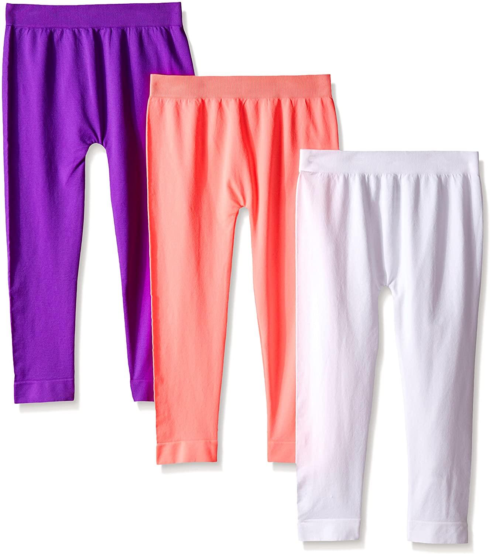 Pink House Big Girls' 3 Piece Seamless Full Length Legging