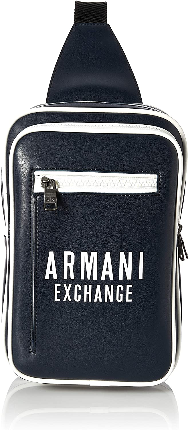 AX Armani Exchange Men's Bold Logo Eco Leather Sling Bag