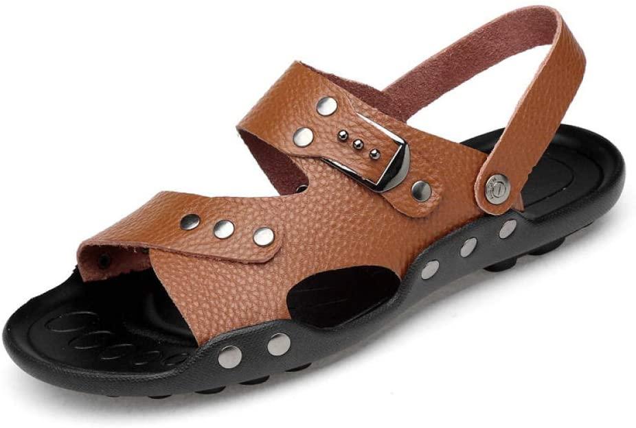 sandals Men's sandals men's beach shoes cowhide sandals and slippers men's shoes