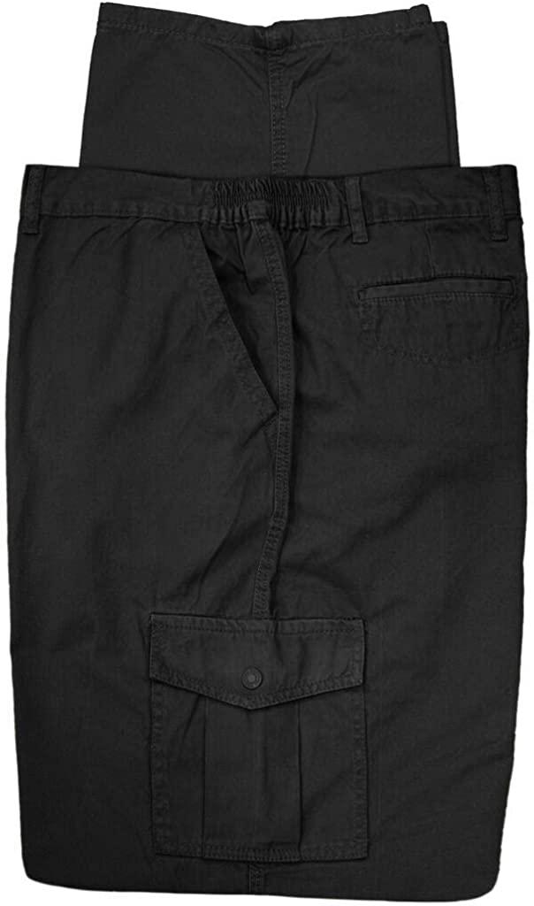 Full Blue Big & Tall Men's Cargo Pants 100% Cotton