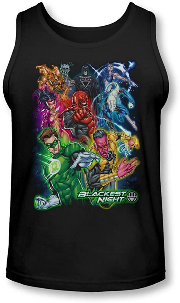Green Lantern - Mens Blackest Group Tank-Top