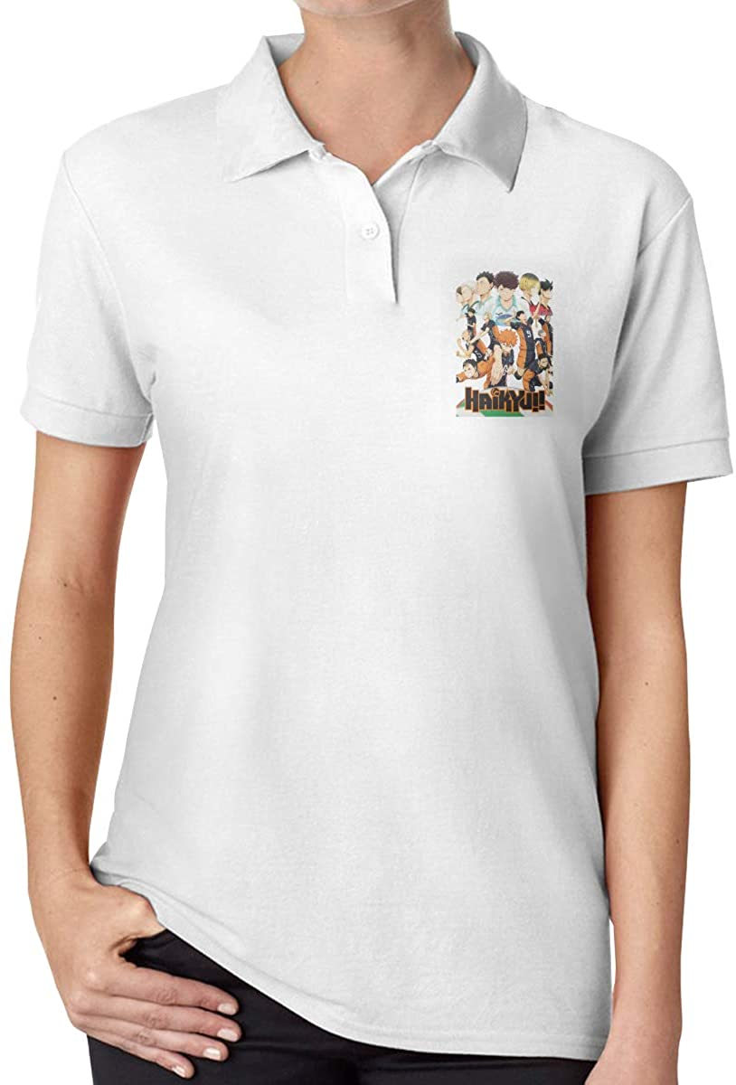 Amy J Nace Haikyuu Women's Comfort Senior Polo Shirt Short Sleeve T-Shirt