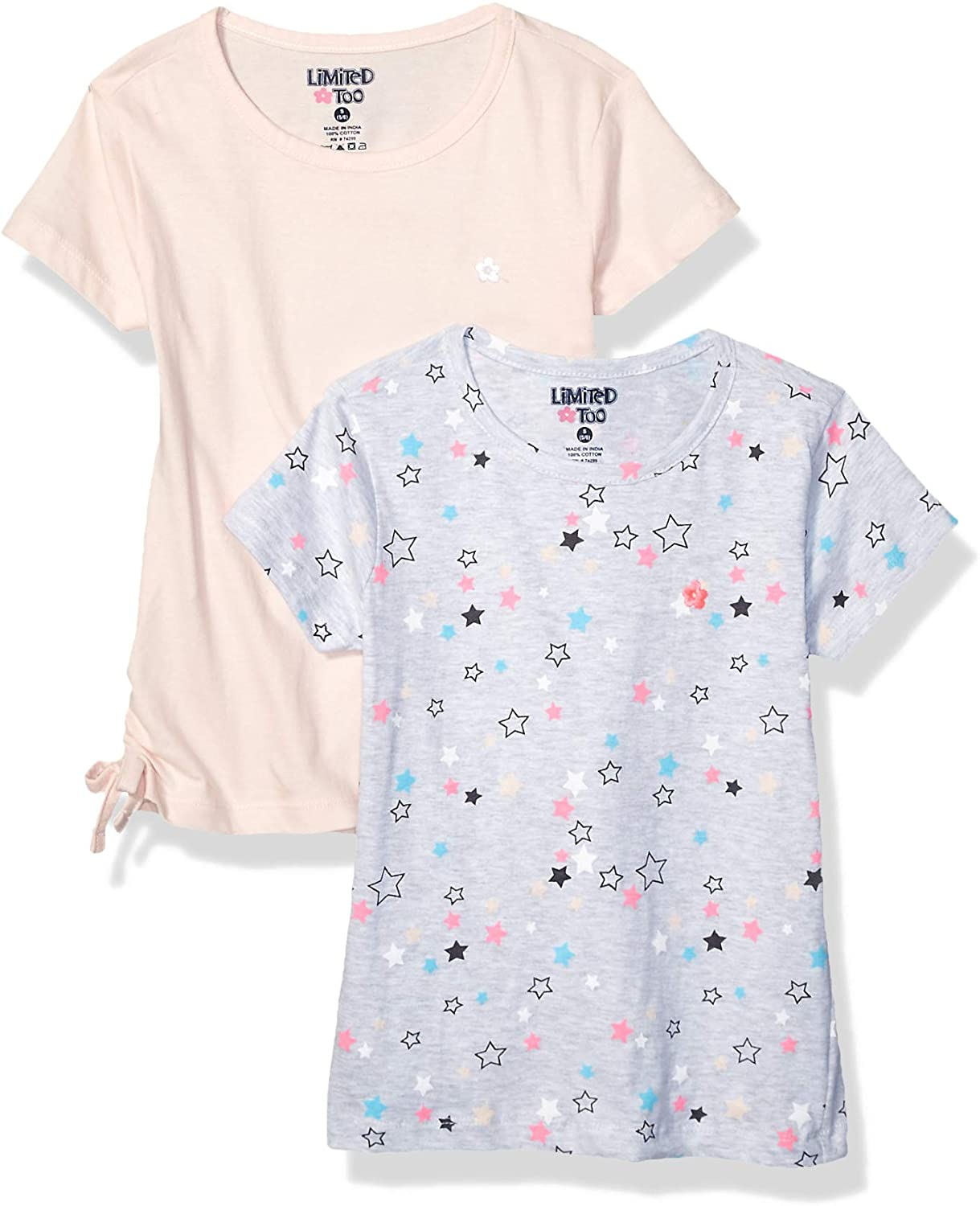 Limited Too Girls' Big 2 Pack Short Sleeve T-Shirt Set